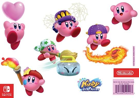 Kirby samolepky