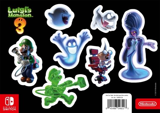 Luigi's Mansion 3 Stickersheet