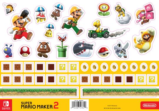 Super Mario Maker 2 Stickersheet